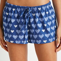 Heart Print PJ Shorts