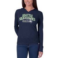 Seattle Seahawks '47 Brand Womens Primetime Hooded Long Sleeve T-Shirt – College Navy