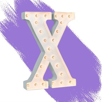 """24"""" Letter X Lighted Marquee Letters (White Gloss)"""