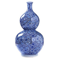 Dessau Home Blue/White Gord Vase - D0251
