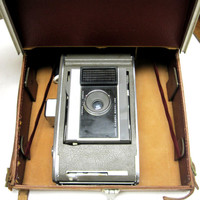 Poloroid Land Camera With Leather Case J66