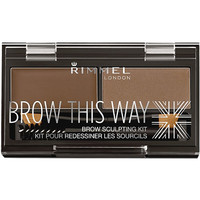 Rimmel London Brow This Way Brow Sculpting Kit Medium Brown Ulta.com - Cosmetics, Fragrance, Salon and Beauty Gifts
