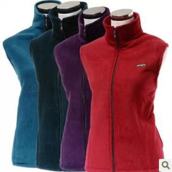 Hot Large yard in older fleece vest waistcoat spring fertilizer to increase women's new mother jacket Large size L-4XL