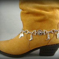 Boot Bracelet ~ Boot Bling ~ Bracelets for Boots ~ Cowgirl Boot Bling - Boot Jewelry - Horse & Cowboy Boot Charms Bracelet for Boots