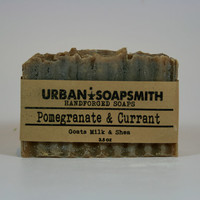 Pomegranate & Currant- Hot Process Soap, Bar Soap,  Shea Butter Soap, Goats Milk,  All Natural Soap, Handmade Soap, Unisex Soap