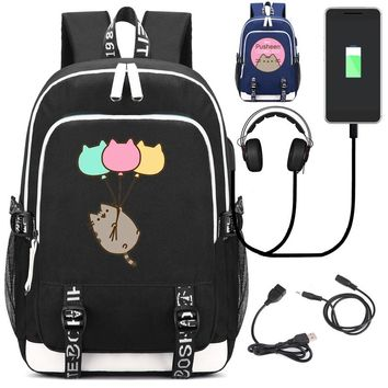 Cat Inspired Backpack with USB Charging Port & Anti-theft