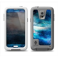 The Blue & Gold Glowing Star-Wave Samsung Galaxy S5 LifeProof Fre Case Skin Set