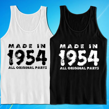 Made In 1954 Vintage 60th Birthday Gift Present tank top for mens and womens