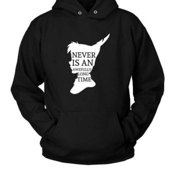 MDIGGW7 Peter Pan Quote Silhouette Hoodie Two Sided