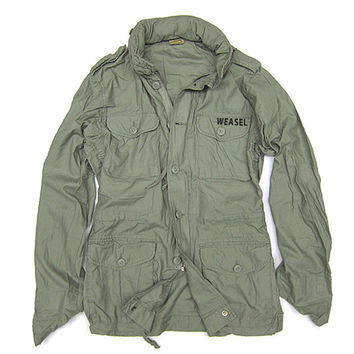 Native M65 Vintage Field Military Lifestyle Jacket Weasel Apparel Handmade Savannah Green