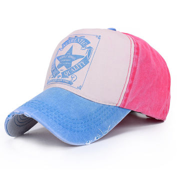 Alphabet Hats Korean Ladies Couple Summer Outdoors Baseball Cap [11643907663]