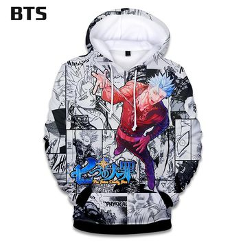 KPOP BTS Bangtan Boys Army  Hoodies Kawaii 3D fashion Nanatsu No Taizai Sweatshirts The Seven Deadly Sins Clothes 2018 Hooded Tops Plus Size AT_89_10