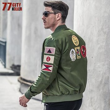 77City Killer Casual Air Force Flight Jacket Men Plus Size 6XL Military tactical jacket casaco masculino Pilot Bomber Jacket