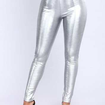 Galaxy Girl Leggings - Silver