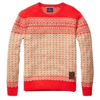 Fair Isle Pull In Bright Knitting Patterns - Scotch & Soda