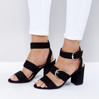 New Look Buckle Detail Heeled Sandal at asos.com