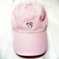 Creamy Pink Outlined Koala Cap