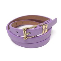 • Purple Skinny Belt •