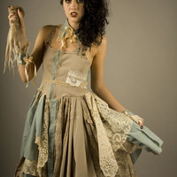 Scrapbox Shirt Dress with Collar and Cuffs in by Flutterbydaisy etsy $220