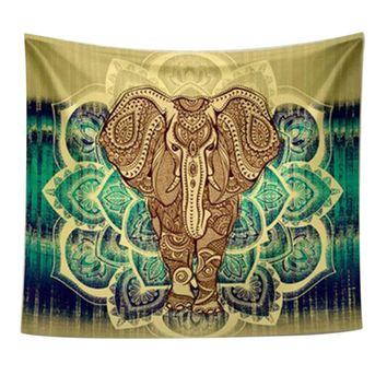 Polyester elephant tapestry wall hangings carpet carpets Home decoration for bedroom living room Yoga mat bedding Home textile