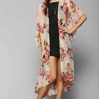 Band Of Gypsies Angel Kimono Duster Jacket- Rose