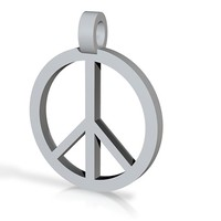 Peace Symbol Pendant by SandyP on Shapeways