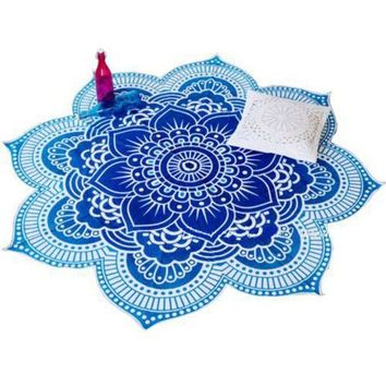 DCCKJG2 4 Styles Lotus Flower Indian Mandala Tapestry Decorative Wall Hanging Blanket Boho Beach Throw Towel Hippie Yoga Mat Bedspread
