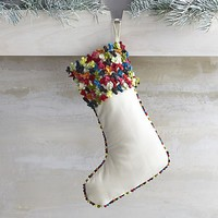 Confetti Multi Pom Pom Stocking