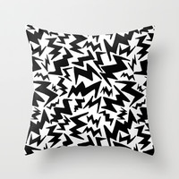 Zigs Throw Pillow by Liv B