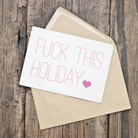 "Printable Valentine's Day Card / INSTANT DOWNLOAD / ""F This Holiday."""