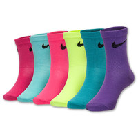 Kids' Nike 6-Pack Crew Socks