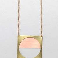 Young Frankk / Porthole Layered Necklace