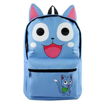 Japan Anime Fairy Tail Backpack School Bags for Teenagers Girls Cartoon Travel Canvas Bag Mochila Laptop Backpacks Rucksack