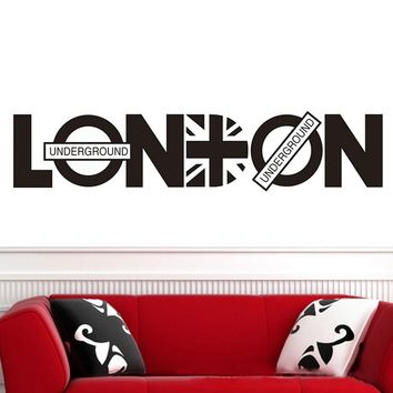 London BritpopWall Stickers DIY Home Wall Decal Decorative Stickers Wall Art