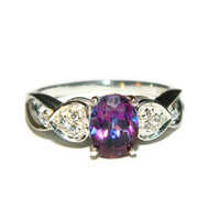 Purple Topaz Engagement Ring, Anniversary Ring,Proposal Ring