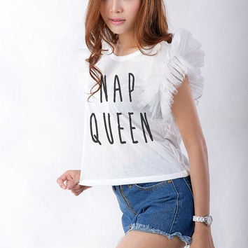 Nap Queen Tank Top Graphic Crop Top Women Funny Slogan Cute Fashion Tops Blogs Girls Grunge Tumblr