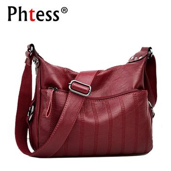 2018 Crossbody Bags For Women Sac a Main Soft Leather Shoulder Bags Female High Quality Handbags Women Messenger Bag Vintage