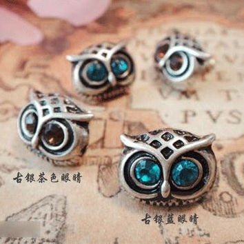 Lovely Big Eyes Owl Imitation Diamond Earrings