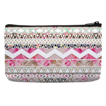 Bag Cosmetic in geometric pattern in pink color for cosmetic pouch bags pencil cases for girl