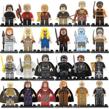Game Of Thrones Single Sale Legoingly Figure Khai Drago Daenerys White Walker Jaime Ice And Fire Building Block Model Toys