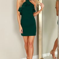 Ruffle Dress Sea Green