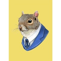 Handmade Gifts | Independent Design | Vintage Goods Corporate Portrait Print - Squirrel