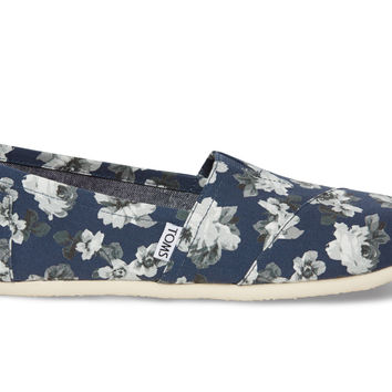 Navy and Grey Floral Women's Classics US 7