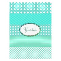 Pastel Turquoise Pattern Mix Tablecloth
