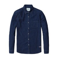 Indigo Dyed Striped Shirt