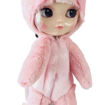 ANGELA Doll Onesuit ANIMAL SUIT 'Cherie Babette' BEAR COSTUME pink