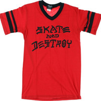 Thrasher S&D Ringer Tee Medium Red/Black