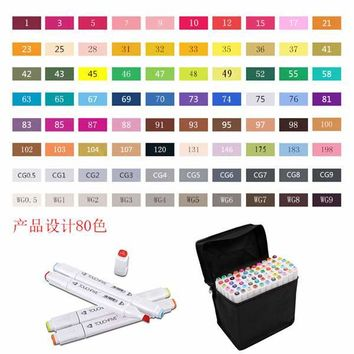 Touchfive 80-color Art Marker Set fatty alcoholic dual headed artist sketch markers pen, Product Design