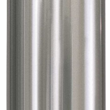 Atrium® Open-top Trash Can, Stainless Steel, 16 Gallons