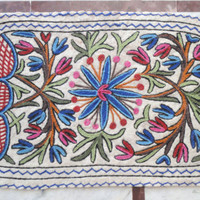 Multicolour Rug Hand embroidered/2x3 feet/Custom made/carpet/door mat/floor covering/wall hanging/runner/tapestry